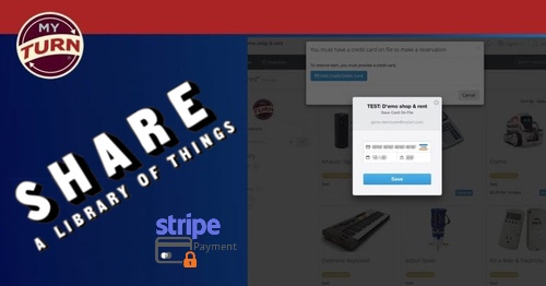 SHARE runs on MyTurn, processing securely payments via Stripe