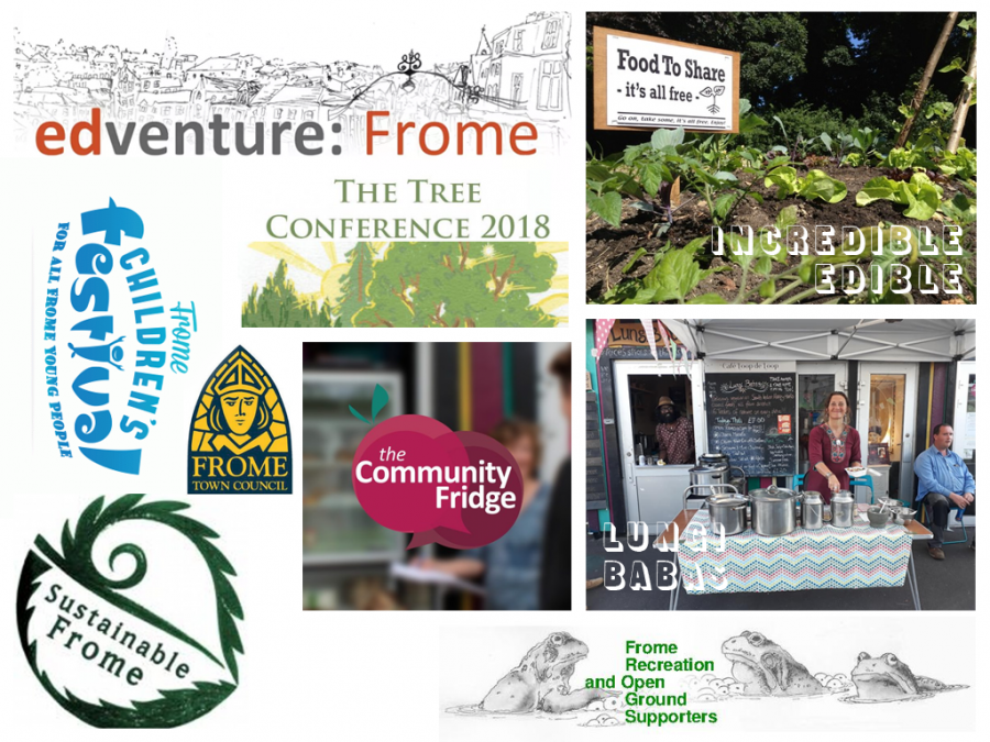 Frome community organisations SHARE have helped through loans and use of our space.